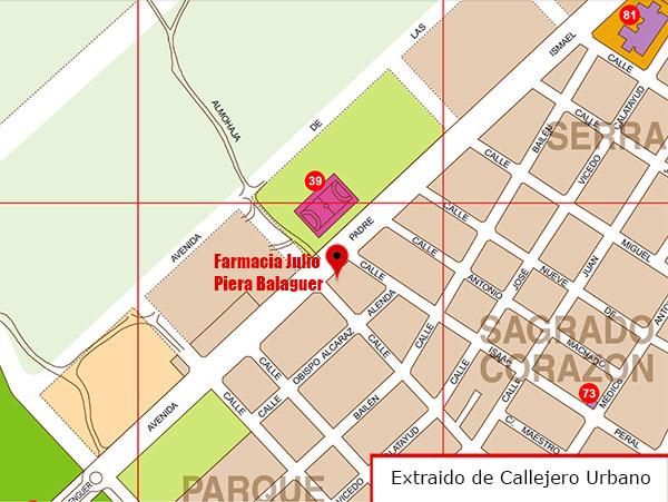 Foto de la ubicación de la Farmacia Julio Piera Balaguer
