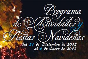 Programa de actividades de fiestas de Navidad