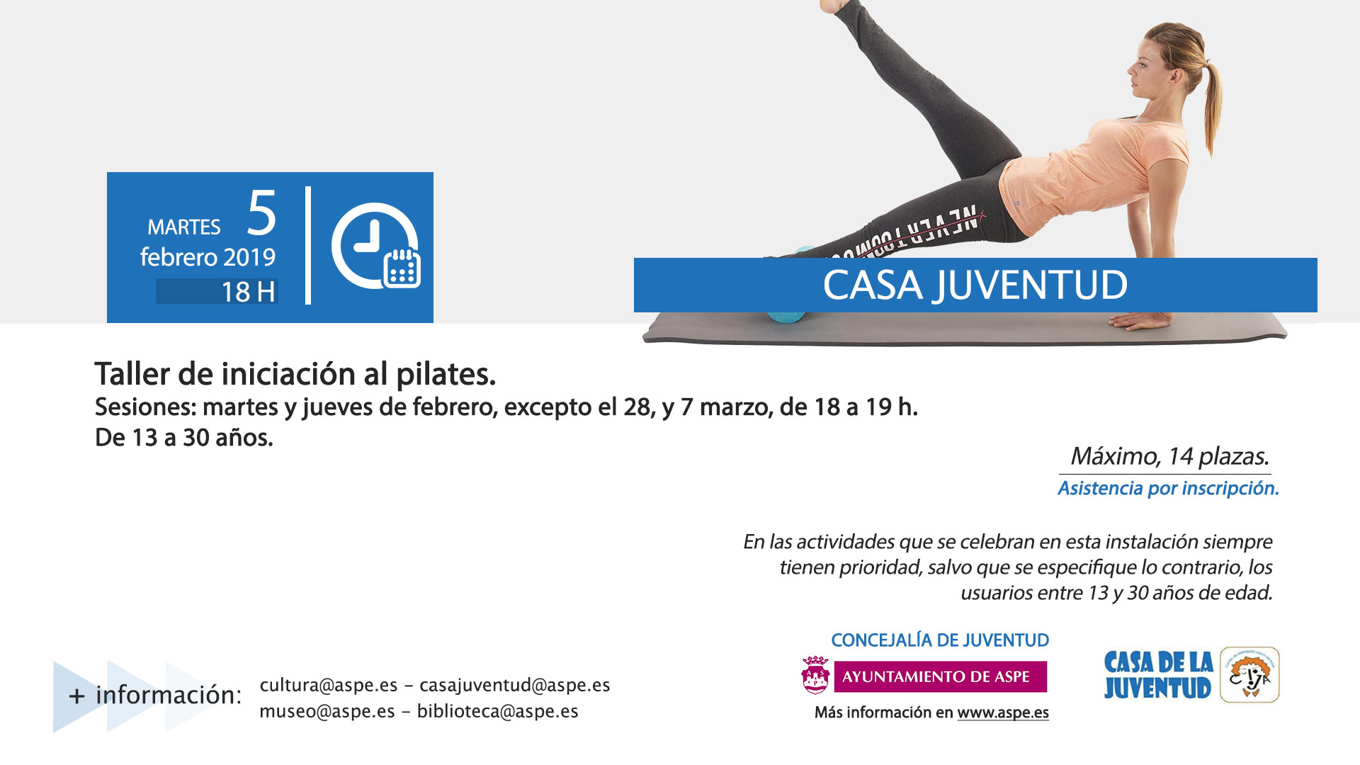 Taller De Iniciación Al Pilates En Casa Juventud Ayuntamiento De Aspe